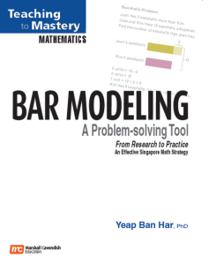 Teach Mastery Maths - Bar Modeling